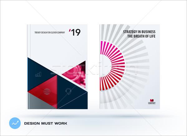 Material plantilla de diseño creativa rojo colorido resumen Foto stock © Diamond-Graphics