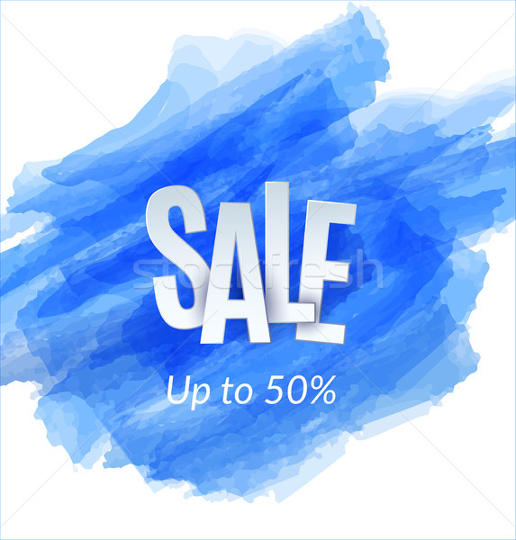 Sale artistic banner template design on blue sketch background. Special offer, colourful letters for Stock photo © Diamond-Graphics