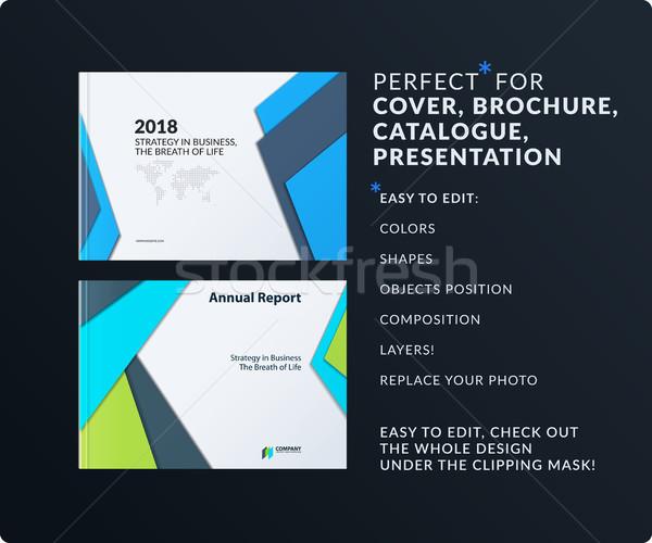 Materiale design brochure set abstract annuale Foto d'archivio © Diamond-Graphics