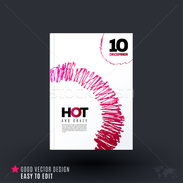 Abstract design of business vector brochure, template cover, poster Stock photo © Diamond-Graphics