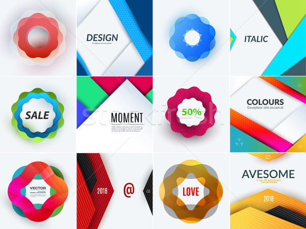 Creative design of abstract vector design elements for graphic template. Creative modern business ba Stock photo © Diamond-Graphics
