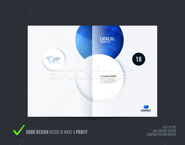 Abstract Blauw brochure ontwerp moderne catalogus Stockfoto © Diamond-Graphics