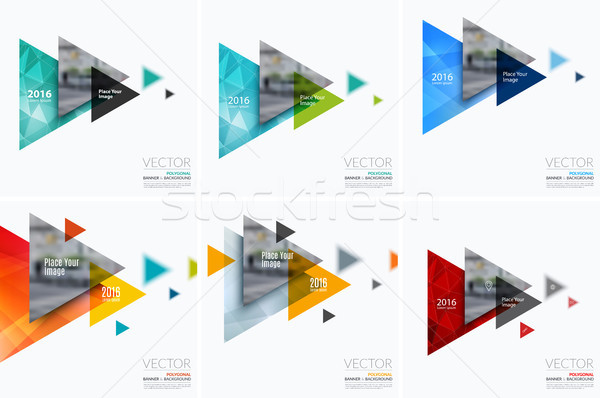 Business vector ontwerp communie grafische lay-out Stockfoto © Diamond-Graphics