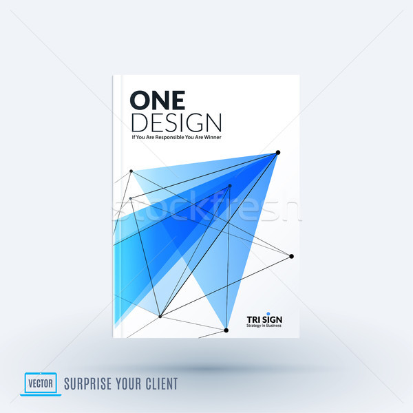 Ontwerp brochure abstract verslag dekken Stockfoto © Diamond-Graphics