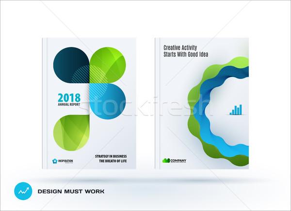 набор дизайна брошюра аннотация ежегодный докладе Сток-фото © Diamond-Graphics