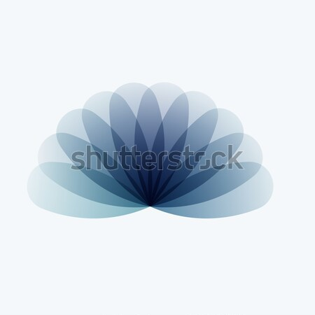 Abstract design of grey colourful vector elements for modern background with flower smooth shape for Stock photo © Diamond-Graphics