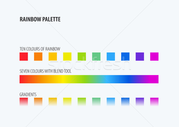 Abstract design of rainbow colours palette Stock photo © Diamond-Graphics