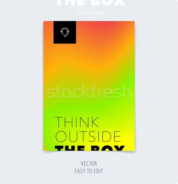 Abstract colourful graphic design of brochure in fluid liquid style with blurred smooth background. Stock photo © Diamond-Graphics