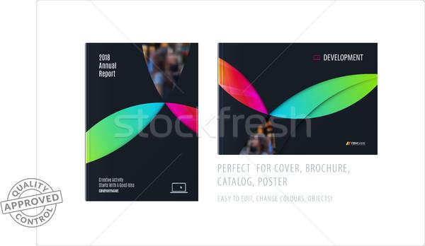 Anyag design sablon színes körök kreatív absztrakt Stock fotó © Diamond-Graphics