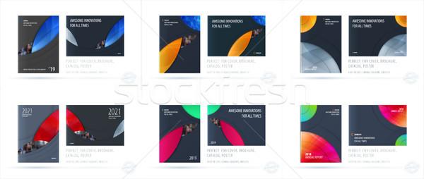 брошюра дизайна шаблон современных аннотация Сток-фото © Diamond-Graphics