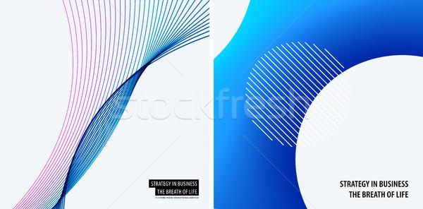 Szett modern terv absztrakt sablonok kreatív Stock fotó © Diamond-Graphics