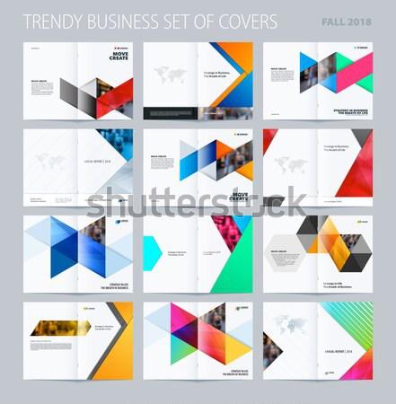 抽象的な パンフレット デザイン スタイル カラフル サークル ストックフォト © Diamond-Graphics