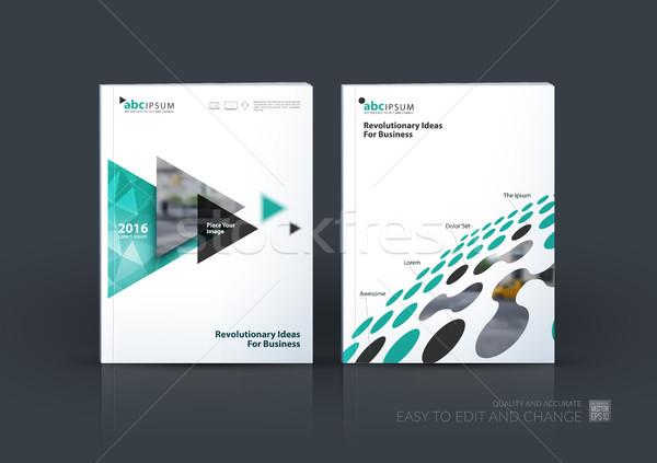 Iş vektör ayarlamak broşür şablon düzen Stok fotoğraf © Diamond-Graphics
