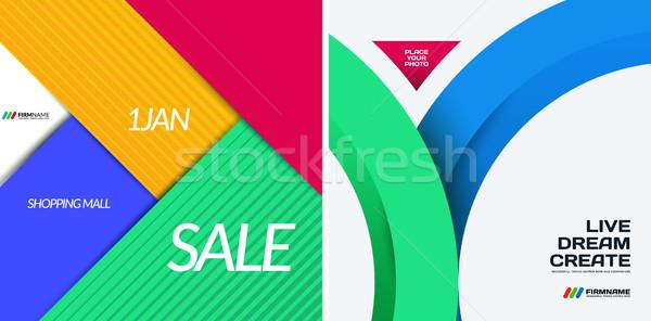 Matériel design résumé modèles Creative Photo stock © Diamond-Graphics