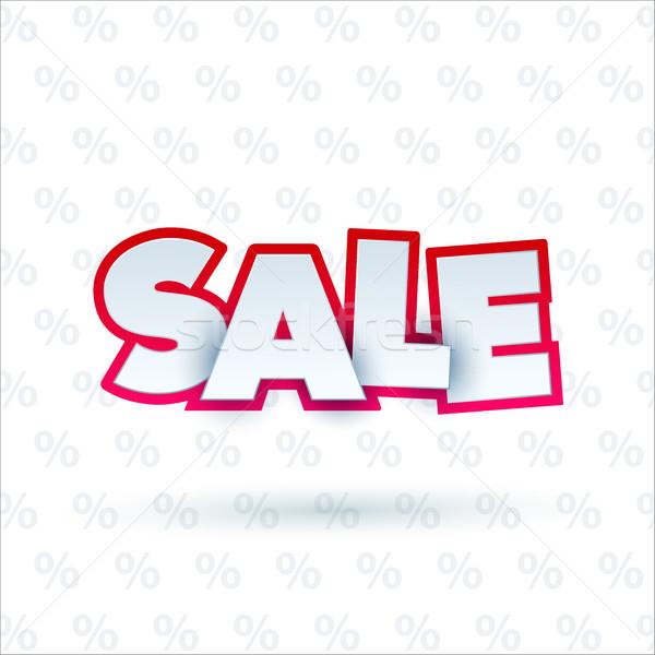 Vásár szalag sablon terv akció színes Stock fotó © Diamond-Graphics