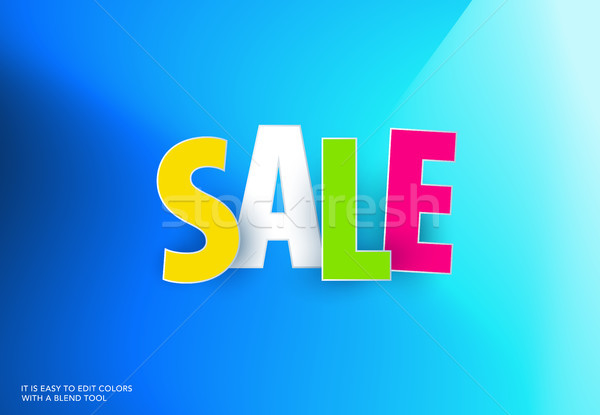 Sale banner template design on colourful background. Special offer for shopping, retail. Typography, Stock photo © Diamond-Graphics