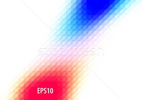 Abstract background design, vector elements for graphic template. Colourful red blue elements for br Stock photo © Diamond-Graphics