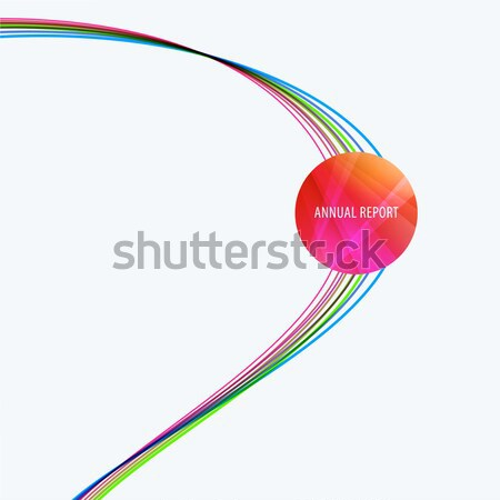 Abstract design of colourful vector elements for modern background with soft waves for business bran Stock photo © Diamond-Graphics