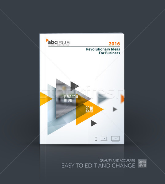 Business vettore brochure modello layout coprire Foto d'archivio © Diamond-Graphics