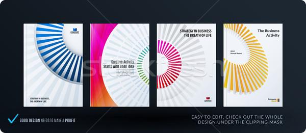 Zdjęcia stock: Szablon · twórczej · streszczenie · minimalny · projektu · broszura