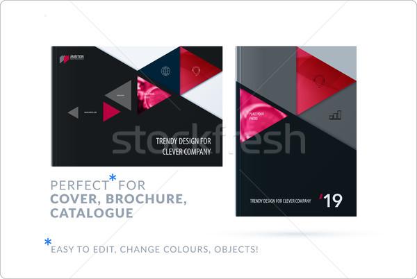 Anyag design sablon kreatív piros színes absztrakt Stock fotó © Diamond-Graphics