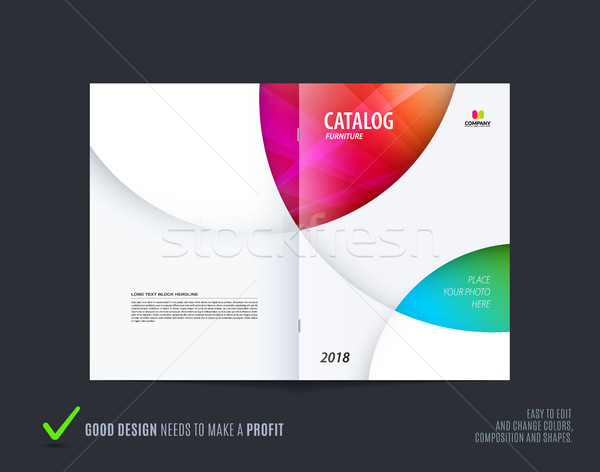 Abstract brochure design, modern catalog, centerfold cover, flyer in A4 Stock photo © Diamond-Graphics