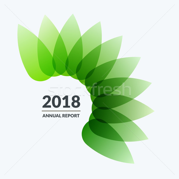 Abstract design of green eco colourful vector elements for modern background with flower smooth shap Stock photo © Diamond-Graphics