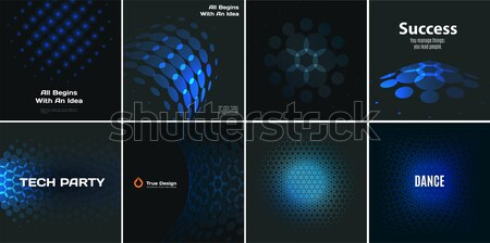 Abstract design of colourful vector elements for smooth background with round shapes rinds for busin Stock photo © Diamond-Graphics