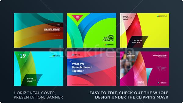 Design brochure résumé annuel rapport Photo stock © Diamond-Graphics