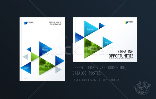 Brochure design modello colorato moderno abstract Foto d'archivio © Diamond-Graphics