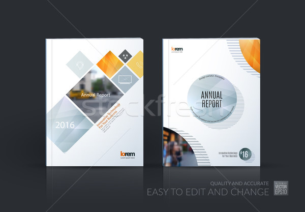 Brochure template layout, cover design annual report, magazine,  Stock photo © Diamond-Graphics