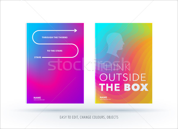 Abstrato colorido design gráfico folheto fluido líquido Foto stock © Diamond-Graphics