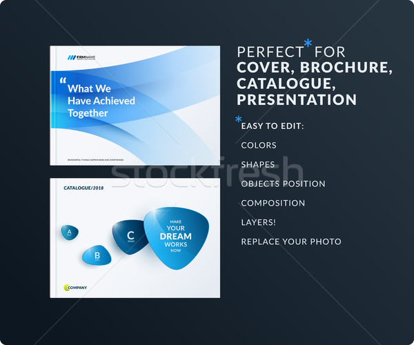 Ingesteld ontwerp brochure abstract verslag Stockfoto © Diamond-Graphics
