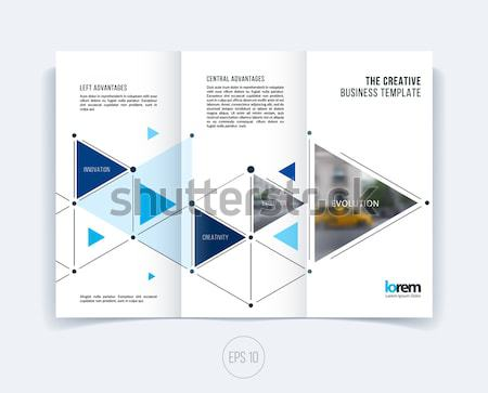 Abstract colourful brochure in material design paper cut style, modern catalog, centerfold cover Stock photo © Diamond-Graphics