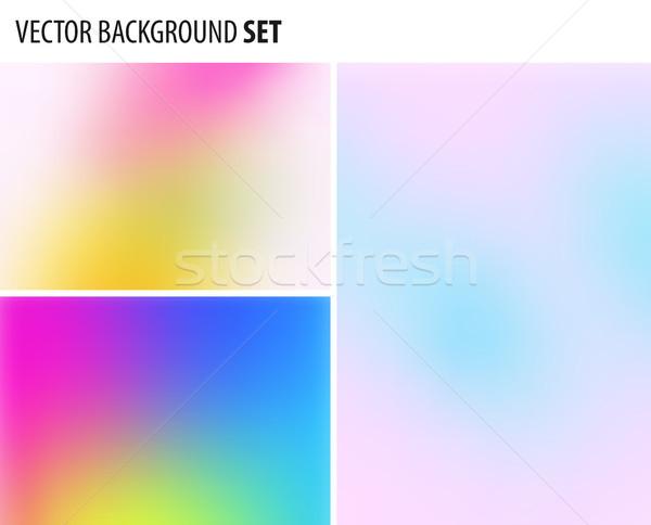 Set abstract offuscata design vettore elementi Foto d'archivio © Diamond-Graphics