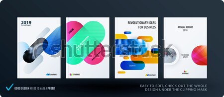 Criador projeto negócio folheto conjunto abstrato Foto stock © Diamond-Graphics