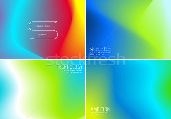 Liquide fluide design coloré résumé vecteur Photo stock © Diamond-Graphics