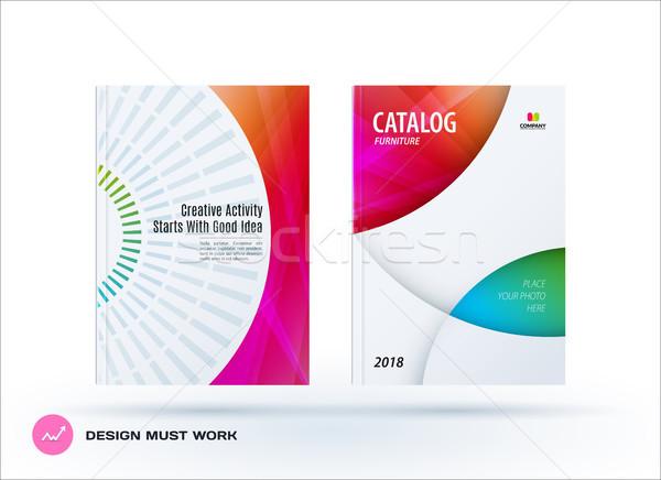 Kreatív terv üzlet brosúra szett absztrakt Stock fotó © Diamond-Graphics