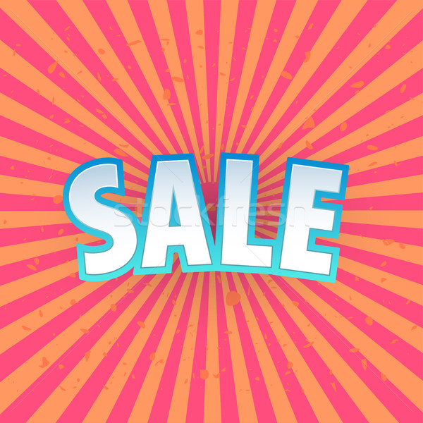 Sale banner template design. Special offer, colourful letters for shopping, mall, trade, retail. Typ Stock photo © Diamond-Graphics