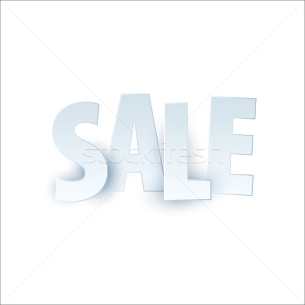 Sale banner template design. Special offer, white letters for shopping, mall, trade, retail. Typogra Stock photo © Diamond-Graphics