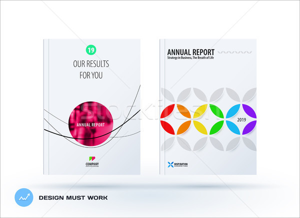 Business set of design brochure, abstract annual report, horizontal cover flyer in A4 Stock photo © Diamond-Graphics