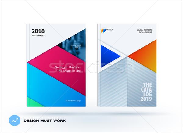 Material plantilla de diseño creativa colorido resumen folleto Foto stock © Diamond-Graphics
