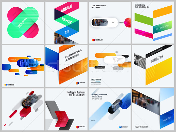 Set of abstract vector design for graphic template. Creative modern business background. Colourful r Stock photo © Diamond-Graphics