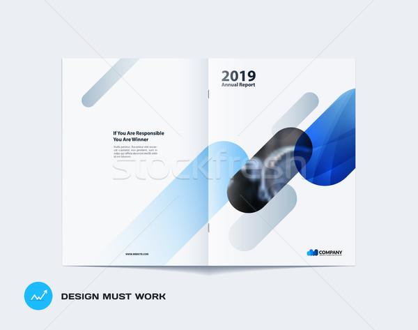Résumé brochure design modernes annuel rapport Photo stock © Diamond-Graphics