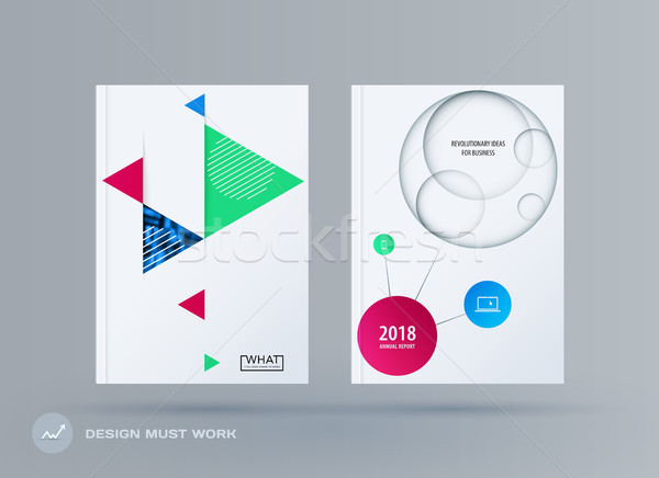Brochure ontwerp sjabloon kleurrijk moderne abstract Stockfoto © Diamond-Graphics