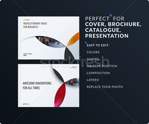 Material Design Präsentation Vorlage farbenreich Kreise Stock foto © Diamond-Graphics