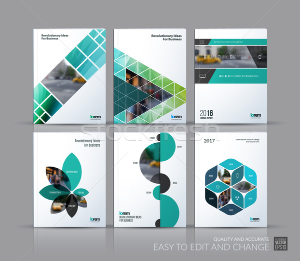 Cover design annual report, brochure template layout, magazine,  Stock photo © Diamond-Graphics