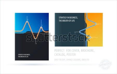 Abstract materiale design stile colorato vettore Foto d'archivio © Diamond-Graphics