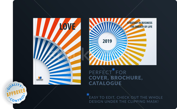 Template. Creative abstract minimal design of brochure set, annual report, horizontal cover Stock photo © Diamond-Graphics