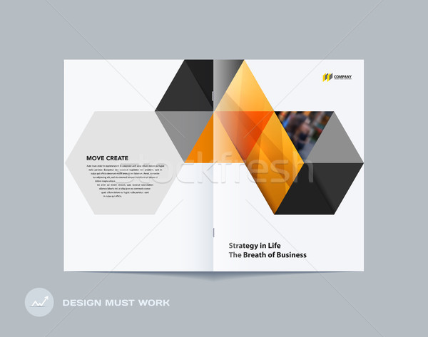 Stock fotó: Absztrakt · brosúra · terv · hatszög · stílus · színes